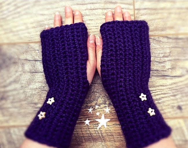 learn to crochet fingerless gloves