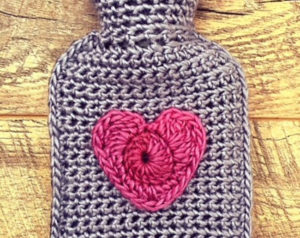 mini hot water bottle crochet cover
