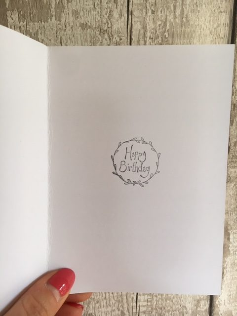 Birthday Card with a Crocheted Rose Brooch