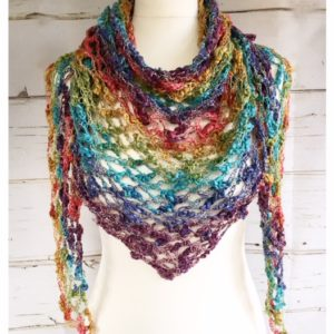 V-Neck Crochet Scarf Pattern